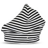 Covered Goods Multi Use Car Seat Cover, Black & Ivory Stripe