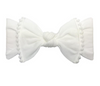 Trimmed Knot Bow, White