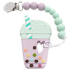 Bubble Tea Silicone Teether, Lilac Mint