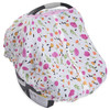 Cotton Muslin Car Seat Canopy, Berry & Bloom