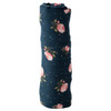 Muslin Swaddle, Midnight Rose
