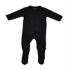 Bamboo Footed Romper, Black