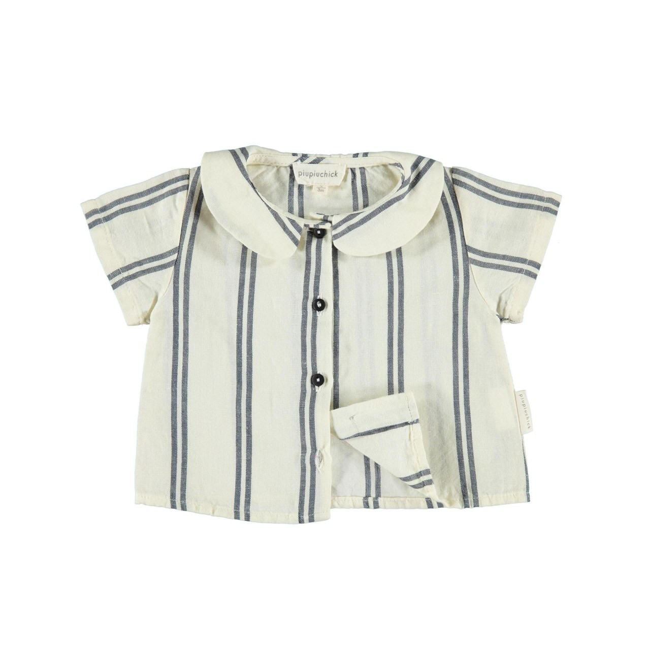 Peter Pan Collar Blouse Navy Stripe Spearmint Ventures Llc