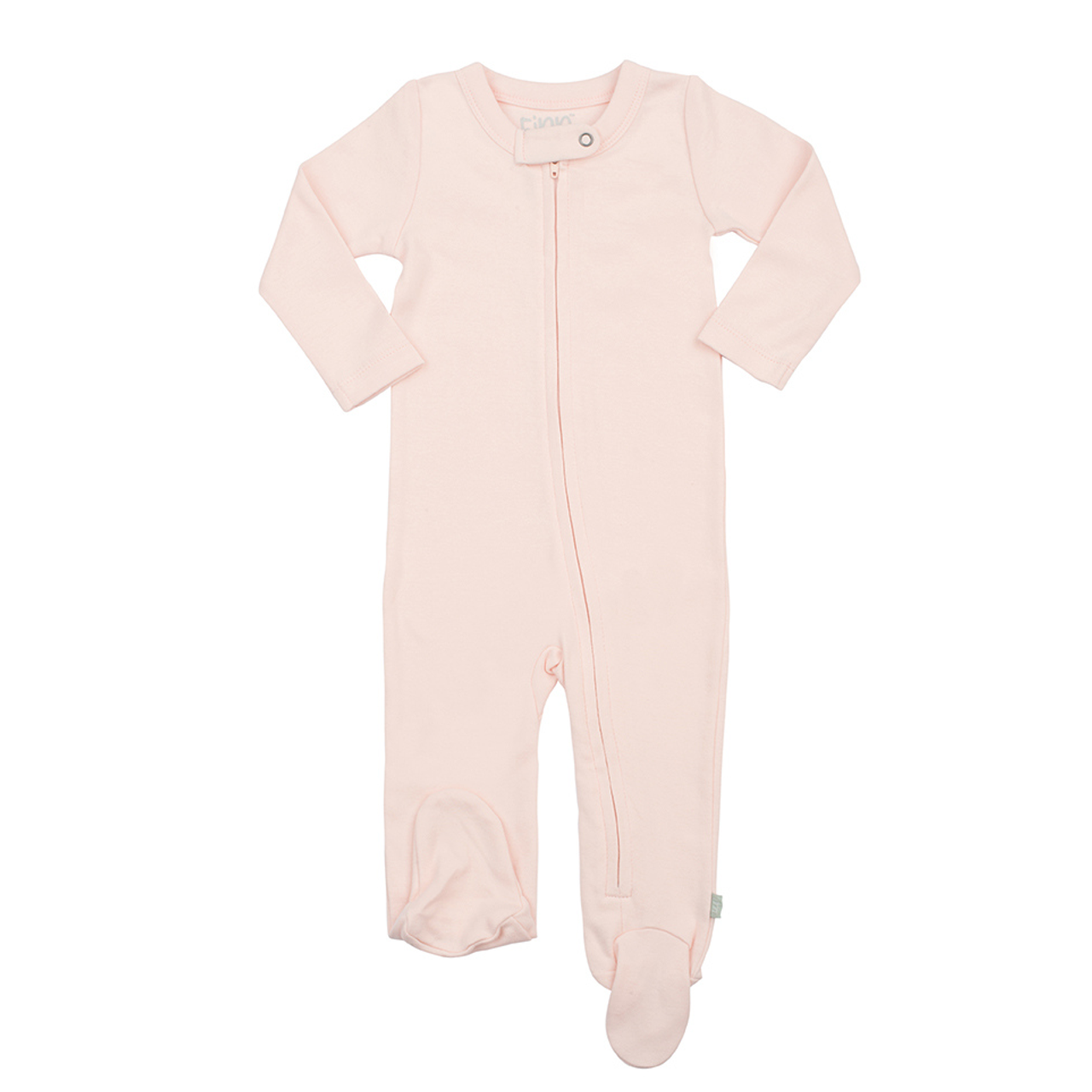 6887a214e2a9 Organic Cotton Zip Footed Romper