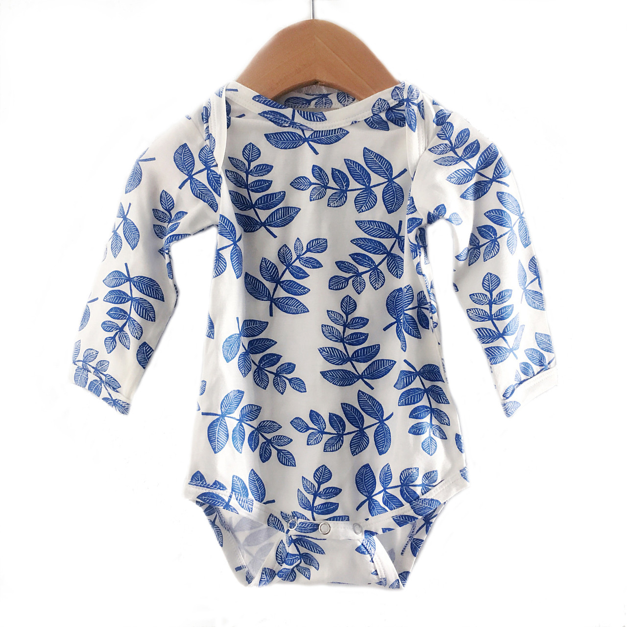 b8ff9d0d4ea95 Long Sleeve Bodysuit, Indigo Fern - Spearmint Ventures, LLC