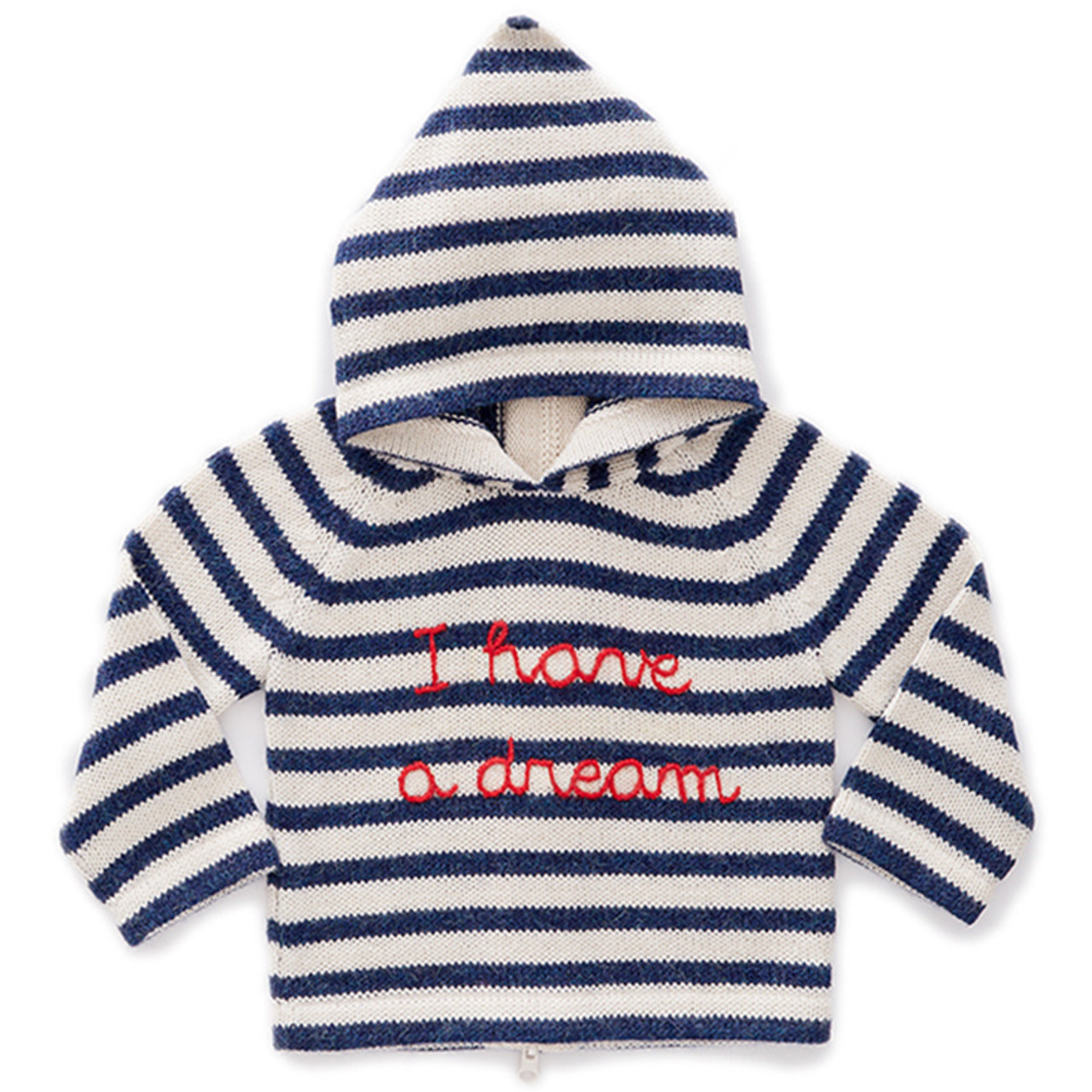 ec992c9c4128 Oeuf Striped Hooded Sweater