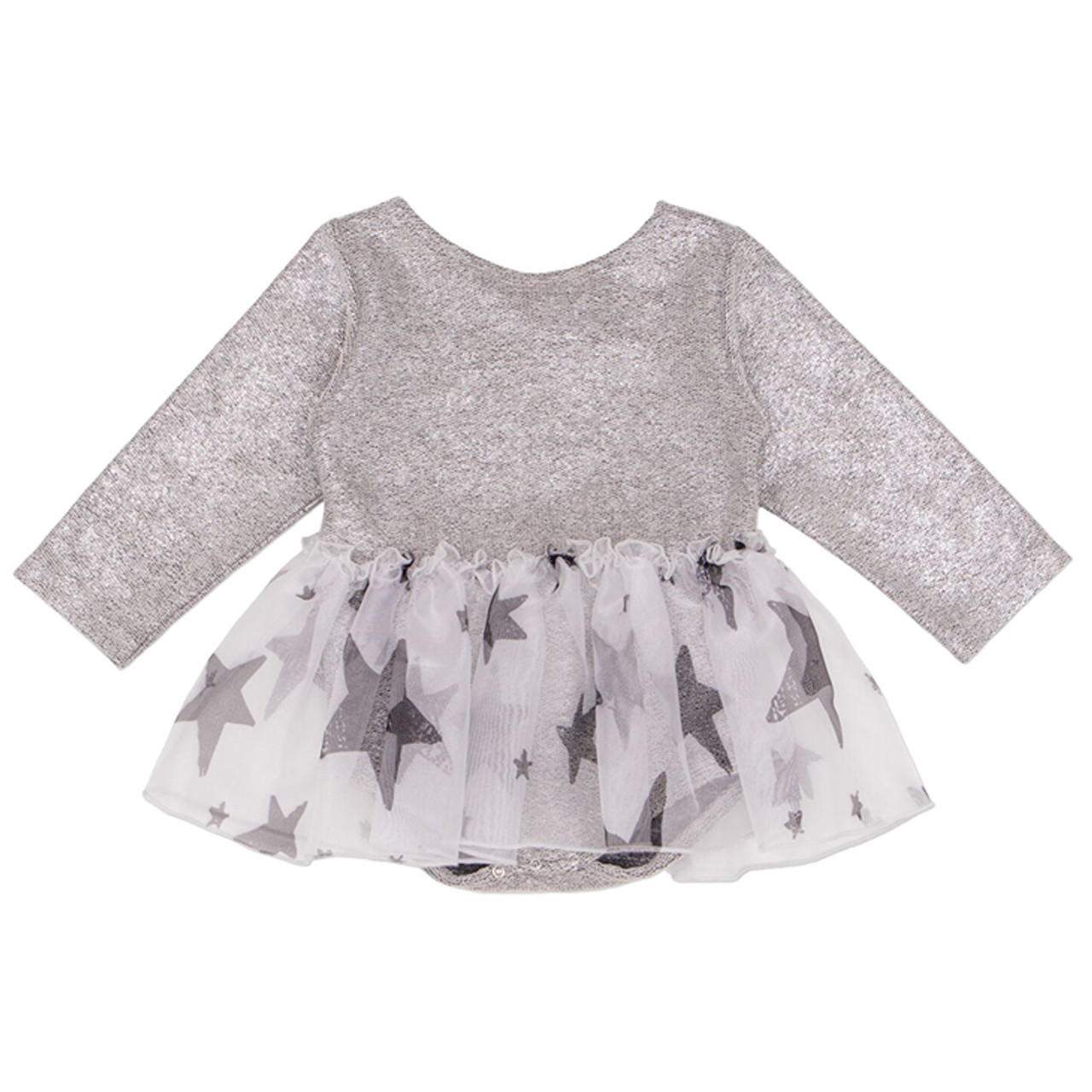 """Handmade Silver TuTu with Silver Top Dress FOR 11 1//2/"""" Doll 2 Pieces"""