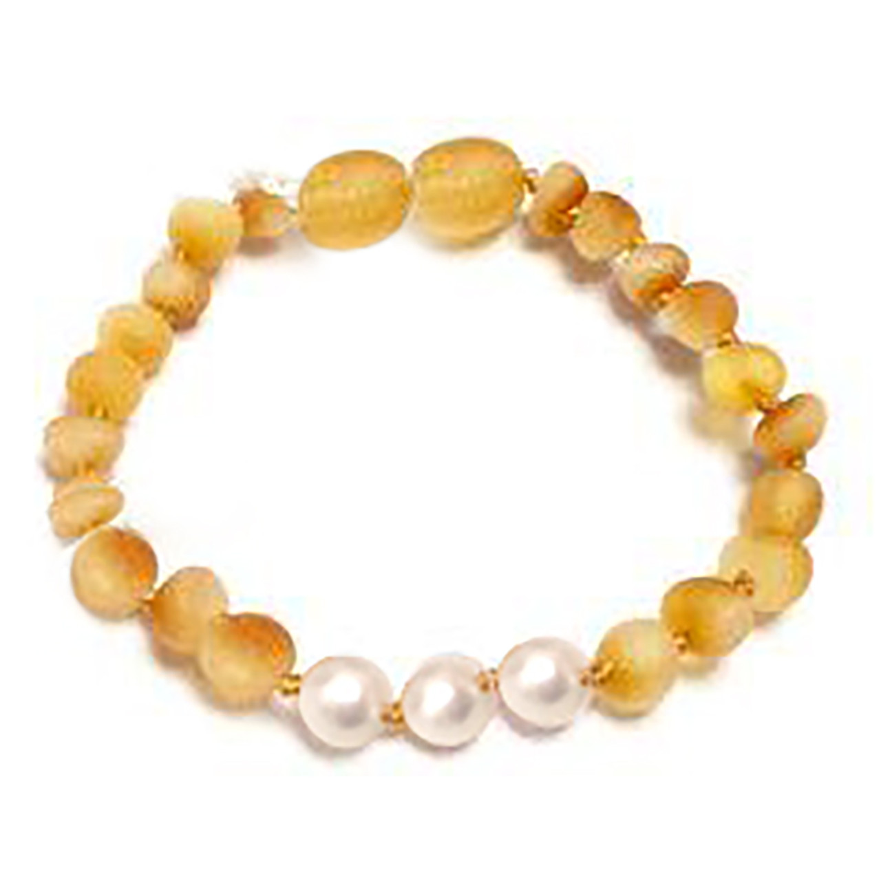 Raw Honey Amber Teething Bracelet cd10719650b