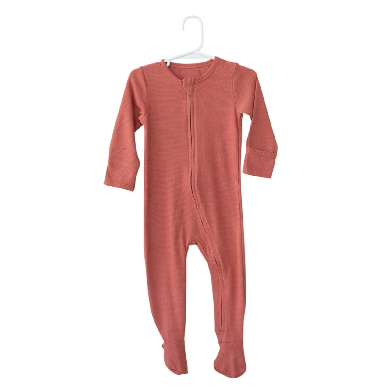 db78916ccc45 Organic Thermal Zip Footed Romper