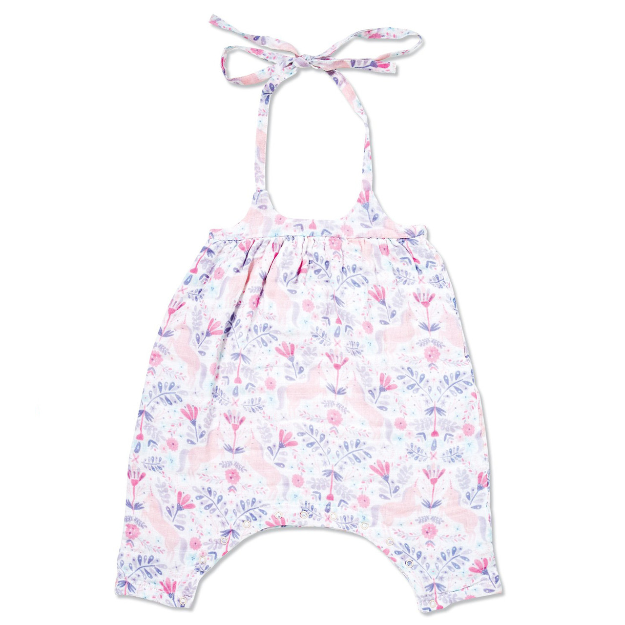 2c8d439d7 Muslin Romper with Bow Back