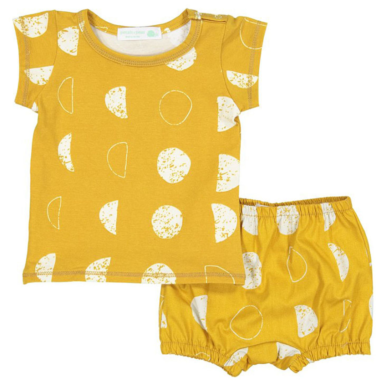 fd1cbaed7 Shirt & Bloomer Set, Mustard Creme Moon - Spearmint Ventures, LLC