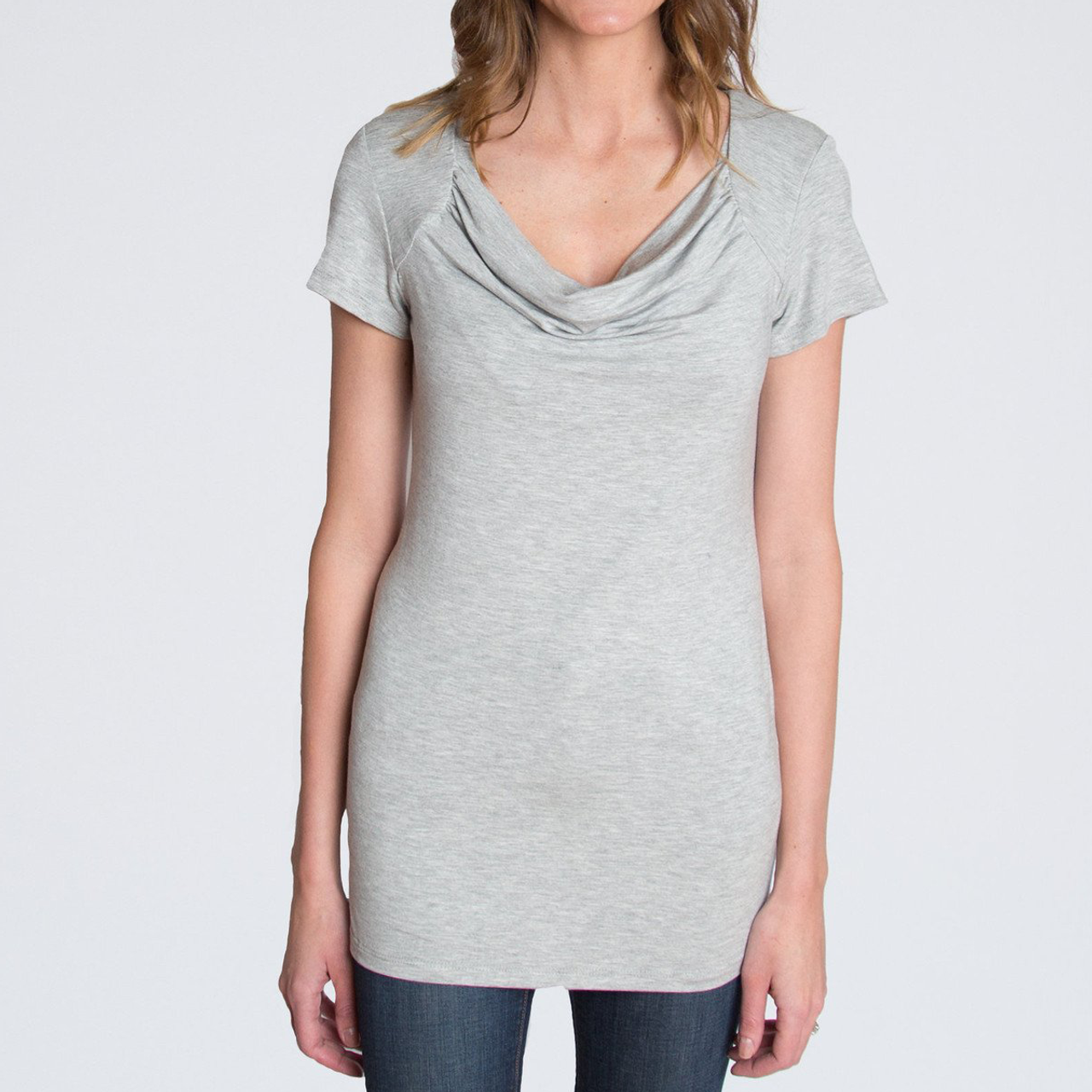 c3839d3570bdd Cowl Nursing Top, Heather Gray - Spearmint Ventures, LLC