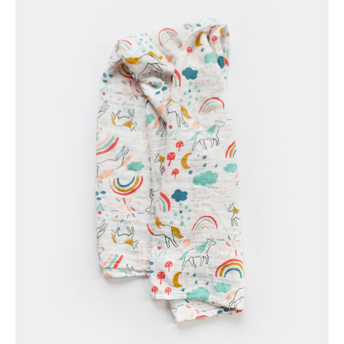 Unicorn Land Muslin Swaddle