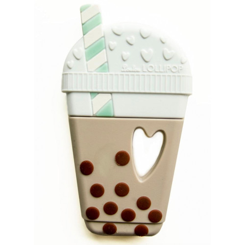 Single Bubble Tea Silicone Teether, Natural