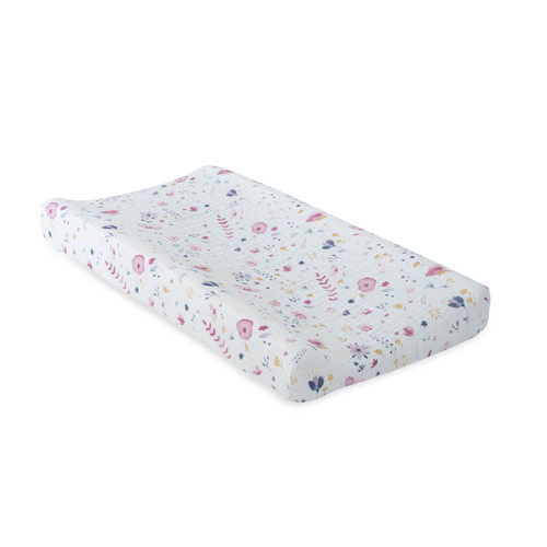 Muslin Changing Pad Cover, Fairy Garden