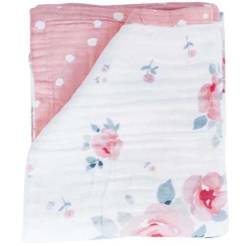 Rosy & Dewdrops Luxury Muslin Toddler Super Snuggle Blanket