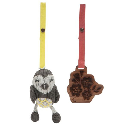Stroller Set, 2 - Piece Owl & Flower