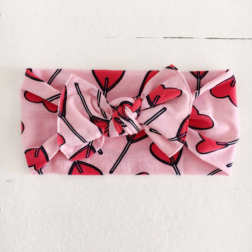 Knot Bow, Heart Lollipop