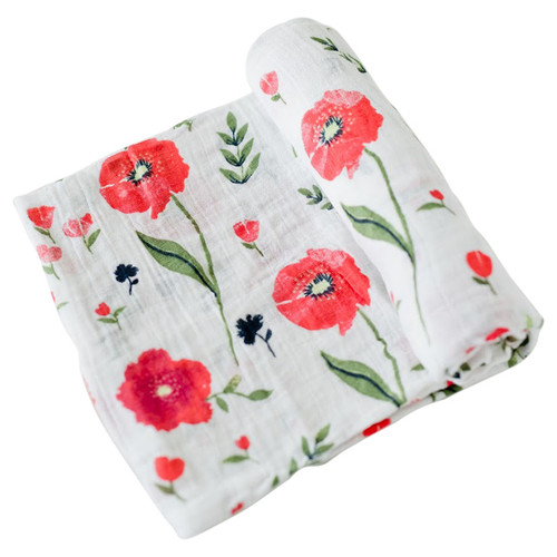 Muslin Swaddle, Summer Poppy
