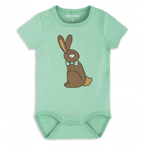 Mini Rodini Rabbit Body, Green
