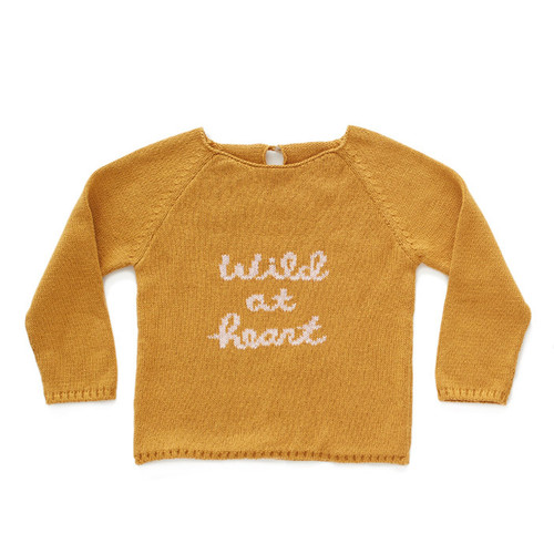 Oeuf Wild at Heart Sweater, Ochre