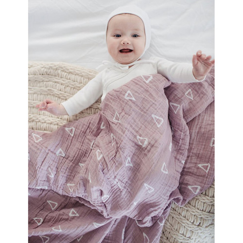 Muslin Swaddle, Blush Triangle