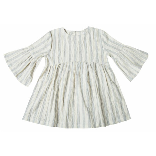 Rylee & Cru Stripe Dress, Ivory/Blue