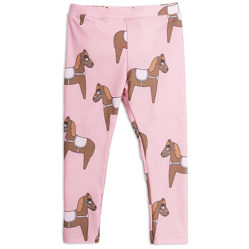 Mini Rodini Horse Fancy Leggings, Pink