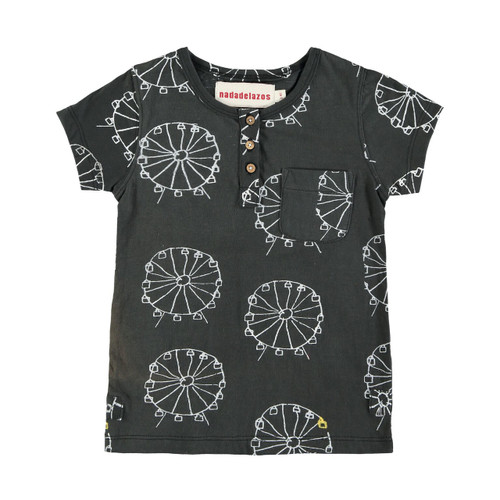 Organic Cotton Ferris Wheel Button Tee