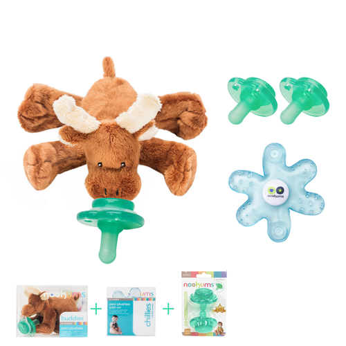 Moose Buddies Pacifier Gift Set