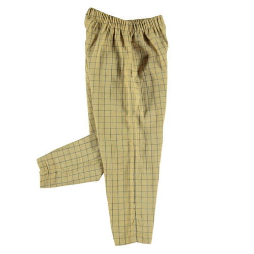 Trousers, Mustard Checkered
