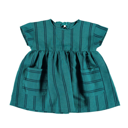 Short Dress, Emerald Stripes