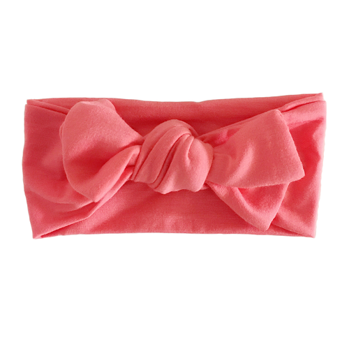Knot Bow, Dark Coral