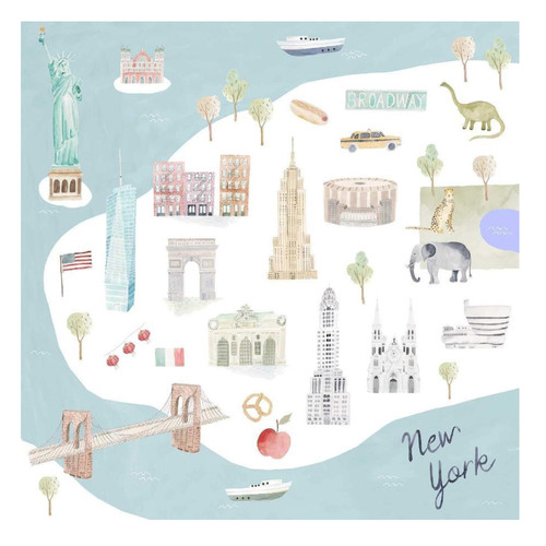 Luxe Muslin Swaddle, New York