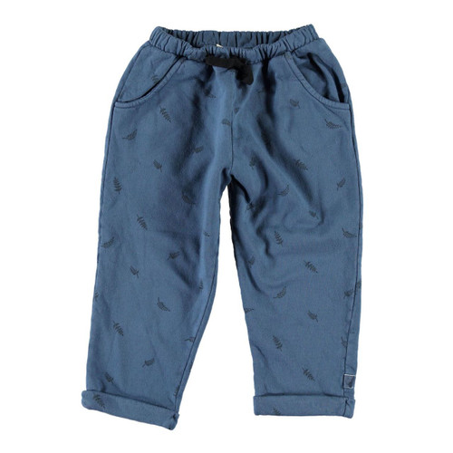 Trousers, Blue Leaves
