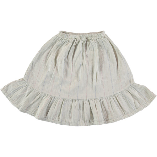 Swing Skirt, Cream Stripes
