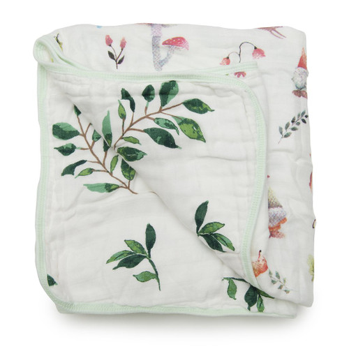 Luxe Muslin Quilt, Woodland Gnome
