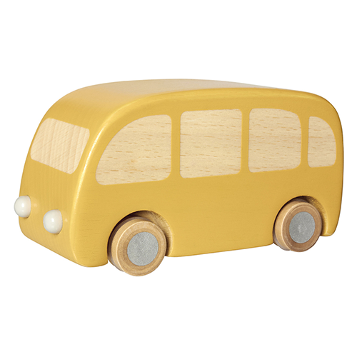 Wooden Bus Toy, Yellow