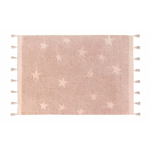 Washable Rug Hippy Stars Vintage Nude