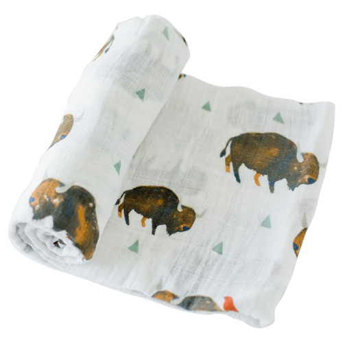 Muslin Swaddle, Bison