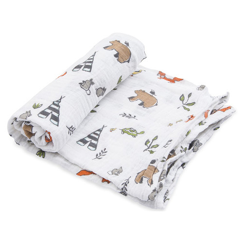 Muslin Swaddle, Forest Friends