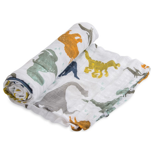 Muslin Swaddle, Dino Friends