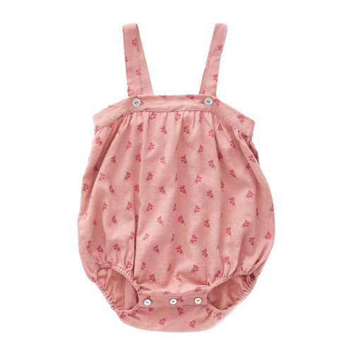 Oeuf Rose Romper with Straps