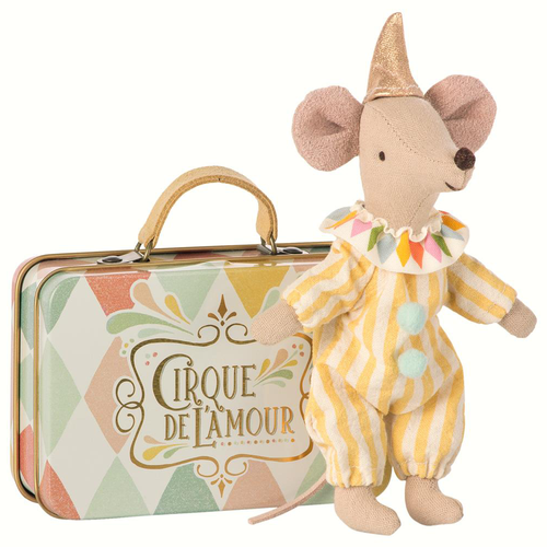 Mouse in Suitcase, Clown