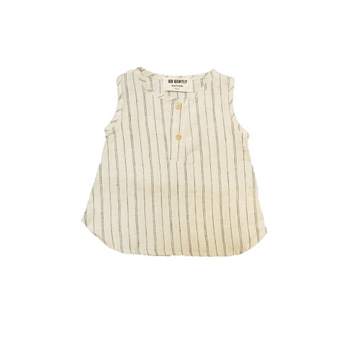 Stripe Placket Tank, Natural Hemp