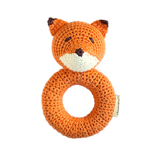 Orange Fox Ring Rattle