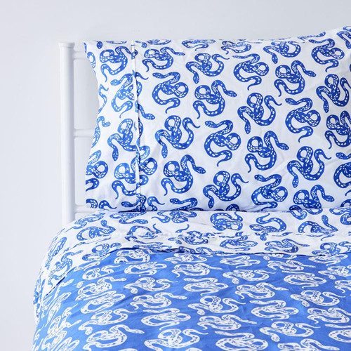 Twin Duvet Cover, Inverse Marine Snake