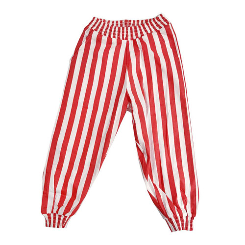 Red/White Stripe Bubble Pants