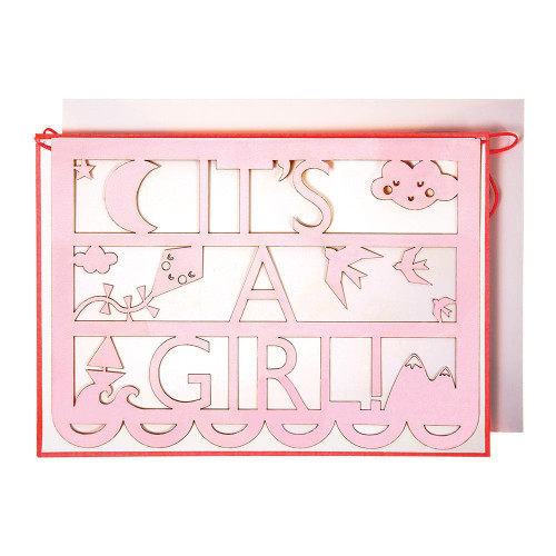 'It's a Girl' Card