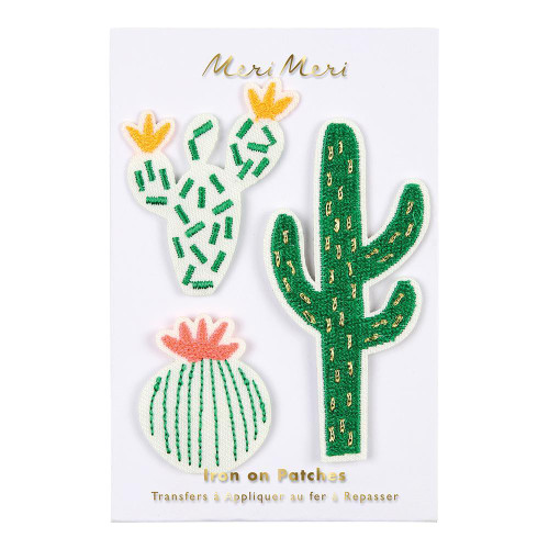 Cactus Iron-On Patches